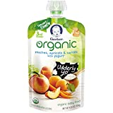organic baby yogurt - Gerber Organic 3rd Foods Baby Food Peaches, Apricots and Carrots with Yogurt, 4.23 Ounce Pouch (Pack of 12)