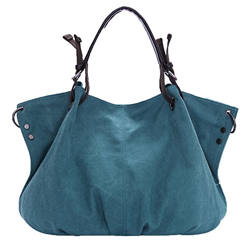 Casual Bag Hobo Body Women Messenger Canvas Bag 973 Bucket Nameblue Handbag Blue Bag Canvas sky Girl's Bag Vintage Shouder Bags Cross 4gBEw