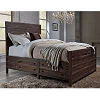 Modus Furniture International Townsend Solid Wood Storage Bed in Java Queen