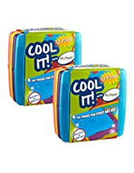 Fit & Fresh Cool Coolers Slim Lunch Ice Pack, Multicolor, Set...