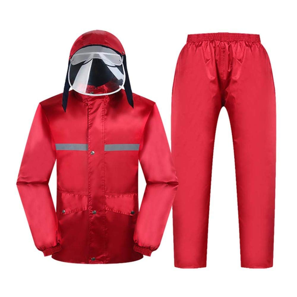 B XXXL ZJW Imperméable Imperméable (Costume De Veste Et Pantalon) Extérieur