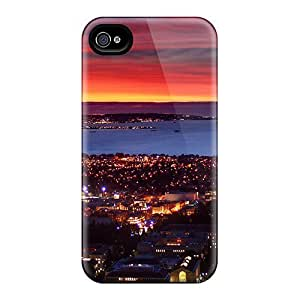 BMm18529zyOH Snap On Cases Covers Skin Iphone 4/4S (san Francisco Across From Berkley In Red Sunset)