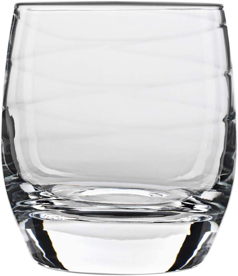 Luigi Bormioli Set of 4 Romantica Double Old-Fashioned Glasses, 12.75-Oz.
