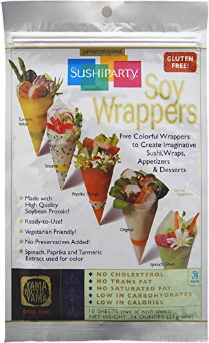 Yama Moto Yama Soy Wrappers Sushi Party,21 Grams 10-count (Pack of 6)