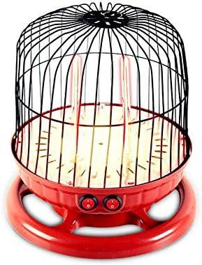 Calentador de espacio, 800W portátil pájaro jaula estufa eléctrica, 2 termostato de velocidad multi-direccional calefacción ojo oscuro protección, ...