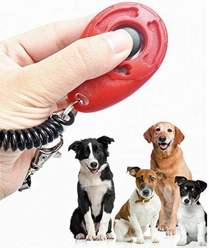Hogdseirrs 5 Piezas Clicker para Adiestramiento Perro 5 Colores Training Clicker con Correa para Perros Gatos p/ájaros Caballos