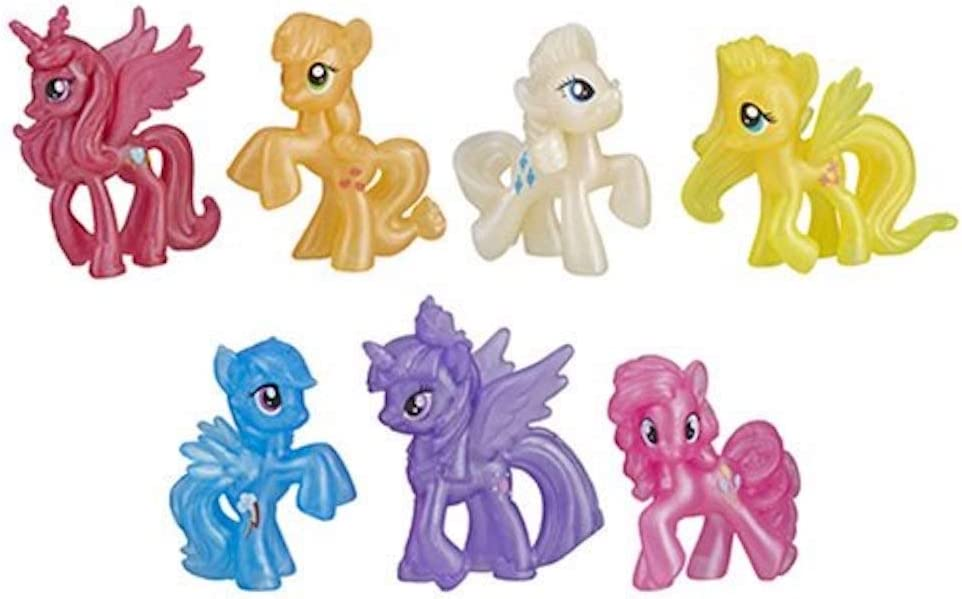 6 My Little Pony SHIMMERING FRIENDS COLLECTION Mini 2 inches  MLP