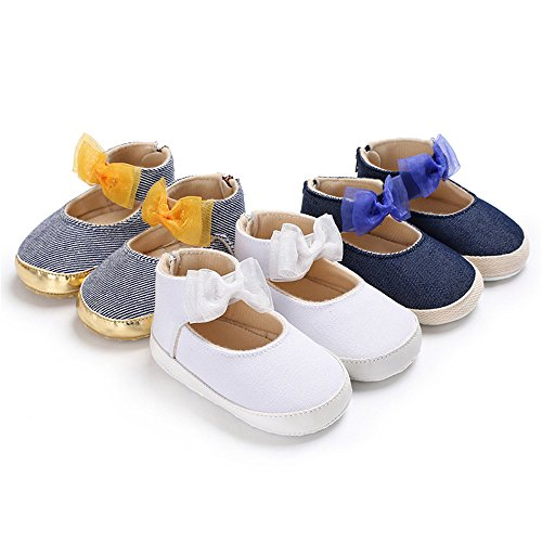 Image of Isbasic Mary Jane Flat Shoes for Baby Girls Soft Sole Toddler Crib Dress Princese Shoes