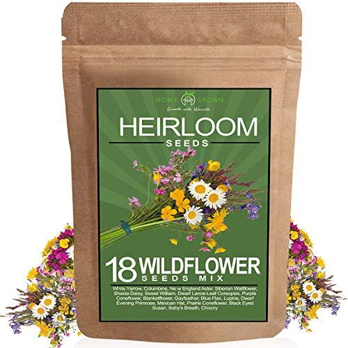 Wildflower Seeds - Premium Flower Seeds [1/4 Pound] Perennial Garden Seeds for Attracting Birds & Butterflies - Flower Seeds for Planting Outdoor (Perennial)