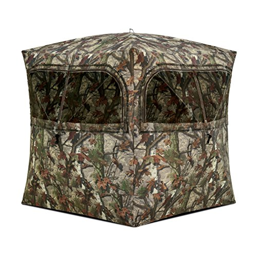 - Barronett Blinds GR351BT Grounder 350 Pop Up Portable Blind, Woodland Camo