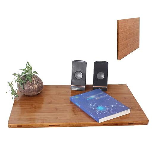 ML Mesa Colgante de Pared de Madera de bambú Mesa para el hogar ...