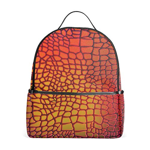 - Lightweight Leather Animal Snake Textures Reptile Backpacks Girls School Bags Kids Bookbags