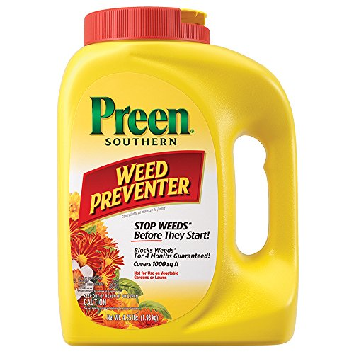 Preen Southern Weed Preventer, 4.25 lb bottle, Covers 1,000 Sq. Ft. by Preen