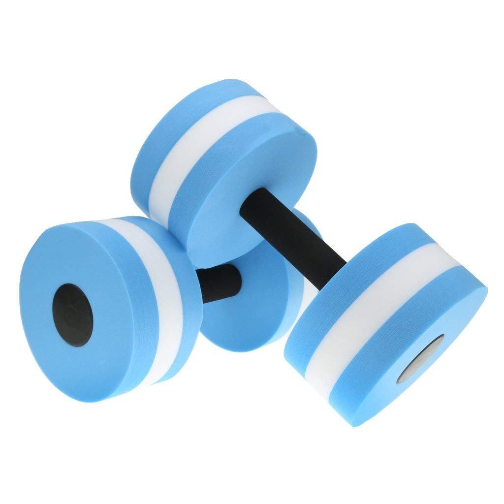 2 Pcs Aquatic Exercise Dumbells Float EVA Water Aerobics Dumbbell Aquatic Barbell Aqua Fitness Swimming Exercise Yosoo