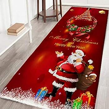 Amazon Com Nihai Merry Christmas Area Rug Long Non Skid
