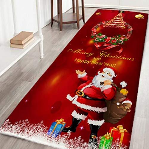 Loveble Christmas Rug Door Mat Runner 3D Flannel Carpet for Entrance/Living Room/Bedroom/Bathroom Non Slip Welcome Entrance Rug, S/M/L/XL