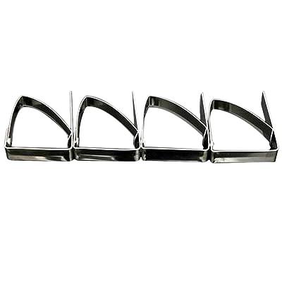 4X Wicemoon Nappe Clips Colliers de serrage en acier inoxydable Pinces de nappe pour table Colliers de serrage
