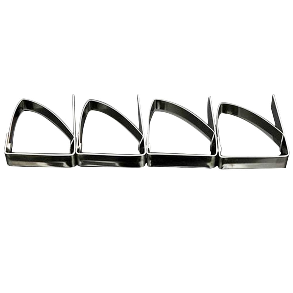 Da.Wa 4Pcs Tablecloth Clips Clamps Stainless Steel Tablecloth Clips Table Cover Clamps Home Supplies