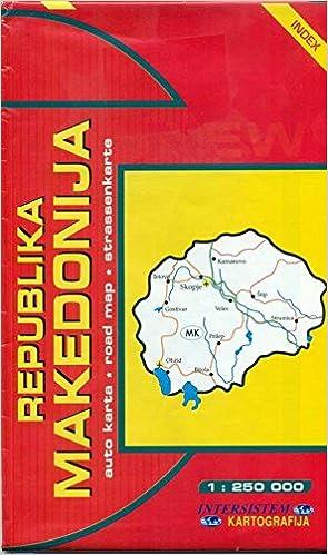 Republika Makedonija Avto Karta 1 250 000 Indeks Road Map