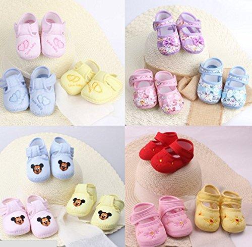 Ohmais Kinder Baby Jungen Baby Mädchen Baby Kleinkind Schuh weich gelb Herz