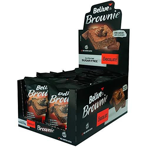 Brownie de Chocolate Sem Açúcar Sem glúten Sem lactose Belive Display com 10 unidades de 40g