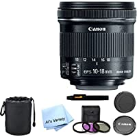 Canon EF-S 10-18mm f/4.5-5.6 IS STM Lens Bundle- International Model