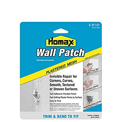 "2 Pack Pre-Plastered Wall Patch, 6""x6"", Mesh Wall Patch Repair"