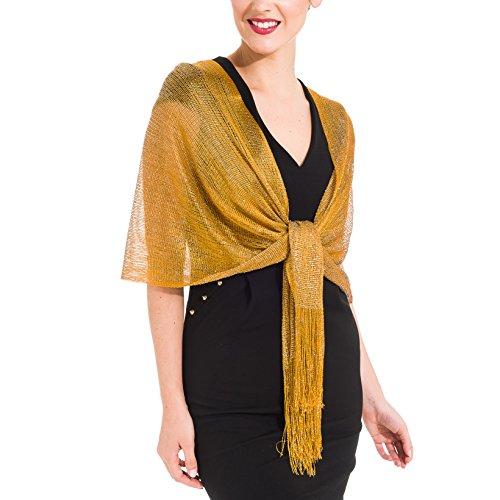 Occasions Bridal Evening Wear - Shawl Wrap Fashion Scarf for Women Summer Fall: Evening Dresses, Wedding, Party, Bridal (Gold II)
