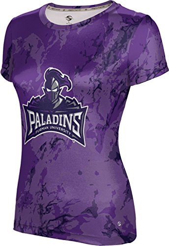 - ProSphere Furman University Women's Performance T-Shirt (Marble) FC5D1 Royal Purple and Gray