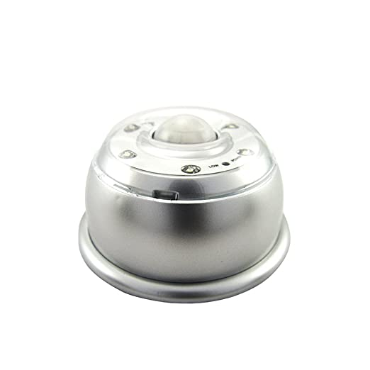 Ipuis Inalámbrico Sensor Movimiento Led Auto Pir Luces Ajustable Cuerpo Humano Sensor Detector Movimiento Lámpara Mesilla