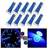 CCIYU T5 Blue High Power LED Car Wedge Speedo Dashboard Dash Side Light Bulb Lamp (Pack of 10 Pcs)