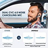 Mpow EM10 Bluetooth Headset 16-Hrs Playtime & Dual Noise Cancelling Mic, V4.2 Bluetooth Earpiece, Earbud Wireless Headset for Cell Phone/Tablet/PC/iOS/Android