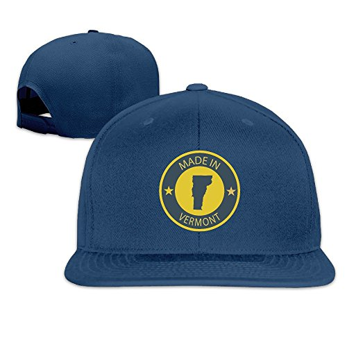 Made In Vermont Solid Snapback Baseball Hat Cap One Size Navy (Party Supplies Burlington)