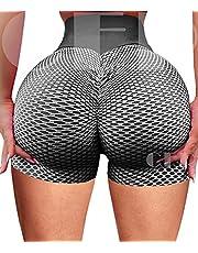 INSTINNCT Womens Sports Workout Shorts Scrunch Butt Lifting High Waist Squat Proof Compression Active Yoga Pants