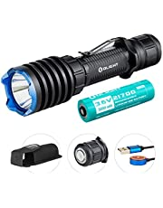 OLIGHT Warrior X Pro 2250 Lumens Neutral White USB Magnetic Rechargeable Tactical Flashlight with 600 Meter Beam Distance, Powered by 5000mAh 21700 Battery