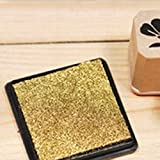 Diy Multi-Function Ink Pad Print Rubber Stamps Paper Wood Craft Inkpad Pat^Gold.