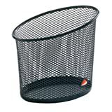Alba Elliptical Mesh Pencil and Pen Holder, Black (MESHCUPN)
