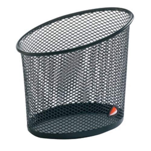 Alba Elliptical Mesh Pencil and Pen Holder, Black (MESHCUPN) by Alba