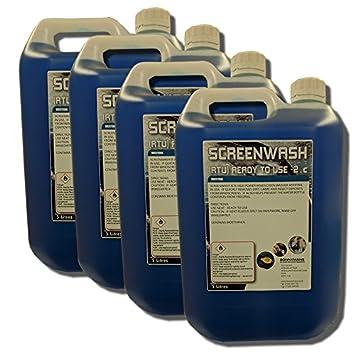 Protector de wash- limpiaparabrisas RTU - listo para usar -2 °C 4 x 5 litros: Amazon.es: Coche y moto