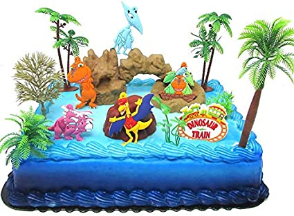 Terrific Amazon Com Dinosaur Train Birthday Cake Topper Set Featuring Funny Birthday Cards Online Fluifree Goldxyz