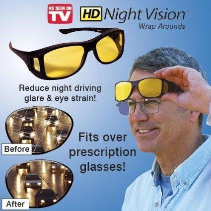 Hd Night Vision Wraparound - Patrol Highway Sunglasses