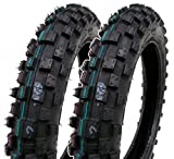 SET OF TWO: Mini Dirt Bike Tire 2.50-10 Front or Rear Tube Type Off Road Motocross Pattern