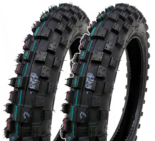 SET OF TWO: Mini Dirt Bike Tire 2.50-10 Front or Rear Tube Type Off Road Motocross Pattern (Crf50 Tires)