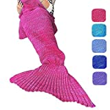 Amazon Price History for:DDMY Knitted Mermaid Tail Blanket For Kids Adult Handmade Crochet Mermaid Sleeping Cotton and Woolen Blanket Warm Soft Living Room Quilt Best Birthday Christmas gift (B-Mandala Purple)