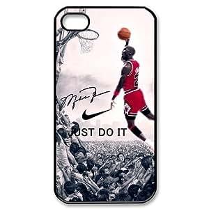 SOKY(TM) Hipster NBA Chicago Bulls Michael Jordan Apple Iphone 4S/4 Case Cover NIKE JUST DO IT Dunk£¨2 Pack£©
