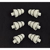 6 PACK - Triple Flange Replacement Ear tips sleeves fit SHURE SE110 SE112 SE115 SE210 SE215 SE310 SE315 SE420 SE425 SE530 SE535 SE846 E3c E3g E4c E4g E5c and Westone Noise Isolating In-Ear Headphones