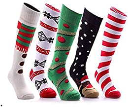Low Price Men Ski Socks Fun Designs Thermal 3 Pairs Assorted