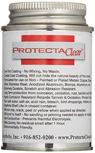 ProtectaClear 4 Oz. Clear, Protective Coating for Polished Metals, Stainless Steel, Jewelry - Prevent Tarnish & Protect Skin from Allergies ()