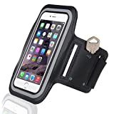 Cell Phone Armband: Sport Fitness Excercise Workout Cellphone Holder Case for iPhone 6, 6 Plus +, 5, 5S, 5C, 4, 4S, 3G, 3GS / Samsung Galaxy S6, S5, S4, S4 Active, S4 Mini, S3, S3 Mini, S2, Note 1, 2, 3, 4 / iPad iPod Touch 3, 4, 5 / HTC ONE X, ONE S