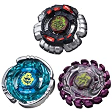 Beyblades JAPANESE Metal Fusion Attack Defense Deck Set Giraffe, Scorpio Aquario #BB86